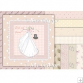 Vintage Wedding Backing Papers + Topper