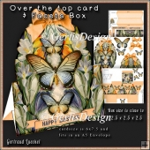 Over The Edge Card Kit white and blue crocus