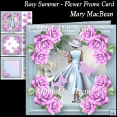 Rosy Summer - Flower Frame Card