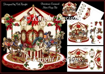 Christmas Carousel - Shaped Mini Page Kit