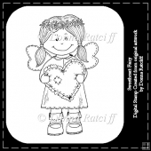 Sweetheart Fairy - Digital Stamp