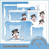 Snowman Bracket Book with Decoupage