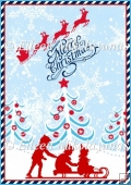 Christmas Silhouettes Backing Background Paper