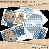 Christmas Gingerbread Man 3d Easel Card Kit