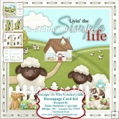 Escape To The Countryside - Decoupage Card Kit