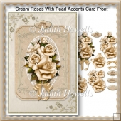 Cream Roses With Pearl Accents Card Front