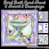 Bird Bath Card Front