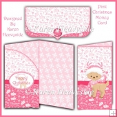 Pink Christmas Money Card