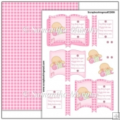 Baby Girl Open Book PDF Decoupage Download
