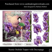 Scenic Orchids Topper with Decoupage