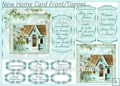 New Home Card Topper with Extra Panels
