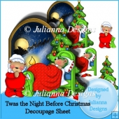 Twas the night before Christmas Decoupage Sheet