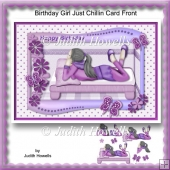 Birthday Girl Just Chillin Card Front