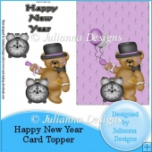 Happy New Year Card Topper