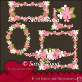 Floral Frames and Decorations Designer Resource Set 2