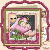 Not a Mouse is Stirring 7.5 Christmas Decoupage Kit