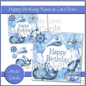 Happy Birthday Nautical Card Front