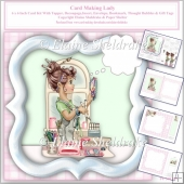 Card Making Lady 6 x 6 Card Kit With Insert, Envelope etc.