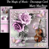 The Magic of Music - Decoupage Card