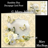 Sunshine Posy - Decoupage Card Front