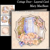 Cottage Door - Layered Card