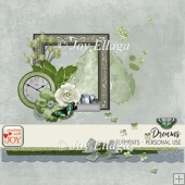 Dreams - Various Embellishments in Green and Grey Shade