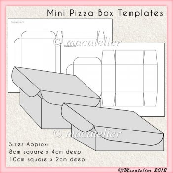 card making templates free download - mini pizza box templates instant card making