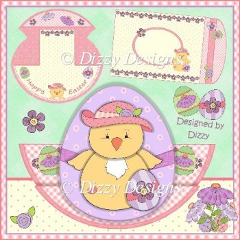 Easter Chick Stepper Rocker Card