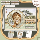 TAKE A WALK ON THE WILD SIDE SAFARI LION A5 Pyramage Card Kit