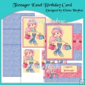 Teenager Easel Birthday Card & Pyramage
