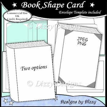 Book Shape Card Template - £3.00 : Instant Card Making Downloads
