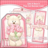 Grin N Bear It Pop Out Banner Card