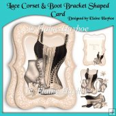 Lace Corset & Boot Bracket Shaped Card