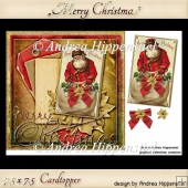 7.5 x 7.5 Card Topper Merry Christmas