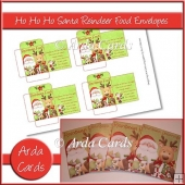 Ho Ho Ho Santa Reindeer Food Envelopes
