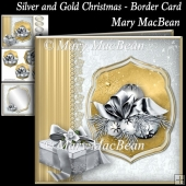 Silver and Gold Christmas - Border Card