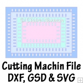 Ribbon Slot Nesting Rectangles Cutting Machine File GSD SVG DXF