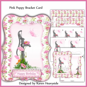 Pink Poppy Bracket Card