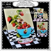 Strawberry Mice Easel Card Kit With Decoupage, Envelope etc.