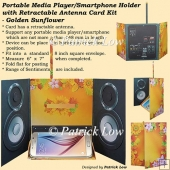 Portable Media Player/Smartphone Holder Card - Golden Sunflower