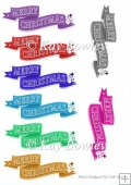 8 Coloured scroll christmas tags with snowmen