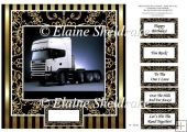 "Artic Lorry - 8"" x 8"" Card Topper"