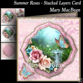 Summer Roses - Stacked Layers Card