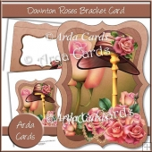 Downton Roses Bracket Card
