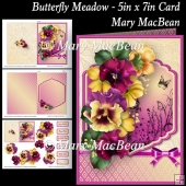 Butterfly Meadow - 5in x 7in Card