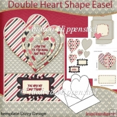 You are my Sweetheart Double Heart Shape Easel Card