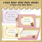 Cloey Bear Mini Date Books
