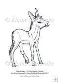Little Donkey - A5 Digi Stamp