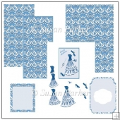Blue Summer Decoupage Card
