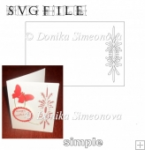 Border with Flower 1 Card - SVG Cutting File
